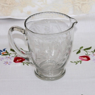 Vintage Etched Glass Water Jug Hire