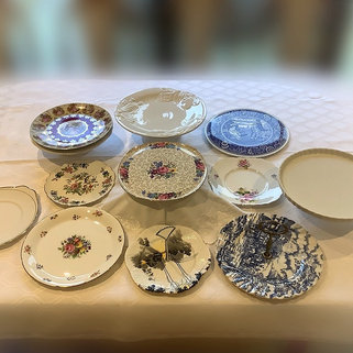 Vintage China Cake Sandwich Plates Hire for Weddings and Events