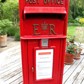 Red Vintage Post Office Box Cards Celebrations & Weddings