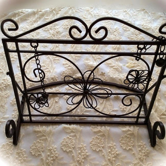 Ornate Metal Guest Book Stand