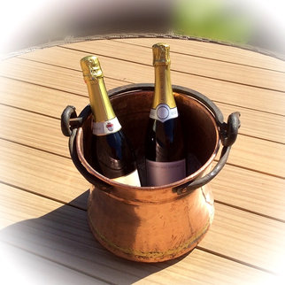Vintage Copper Bucket Use for Chilling Champagne!