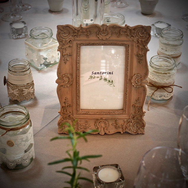 Vintage Style Photo Frame For Event Table Name and Venue Styling