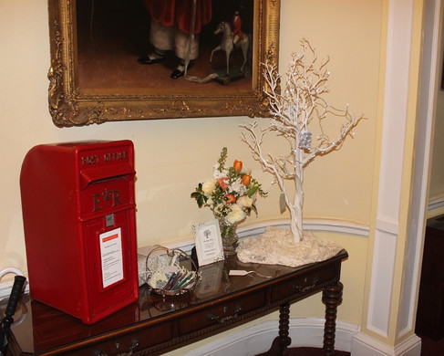 Red Post Box for Wedding Collection with Wishing Tree