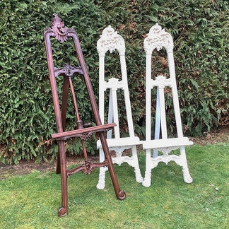 Vintage style Ivory and Mahogany Easels Prop Hire