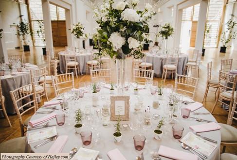 Stunning Pink and Grey Wedding Table Decor Holkham Hall Norfolk