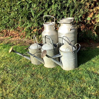 Rustic Event Styling Vintage Galvanised Milk Churns & Watering Cans