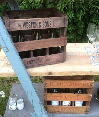 Rustic Cider Bottle Crates to Hire for Vintage Weddings and Celebrations