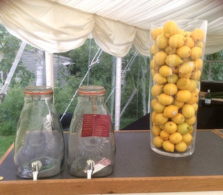 Two 8 Litre Kilner Drink Dispensers with Taps Event Barware Hire