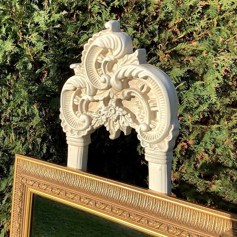 Ivory Wedding Easel with Gilt Framed Mirror Prop Hire Norfolk