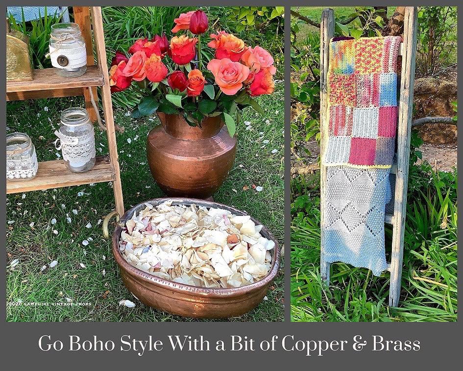 Vintage Copper Vessels Boho Style