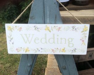 Floral Hanging Wedding Sign