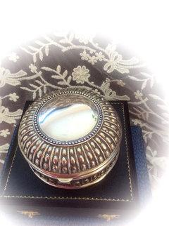 Vintage Silver Metal Case with Hinged Lid Wedding Hire