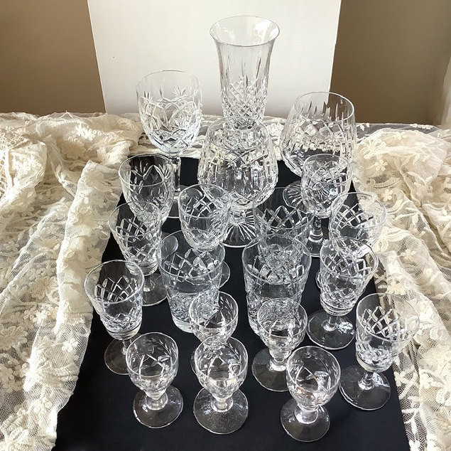 Assorted Crystal Glasses Barware hire