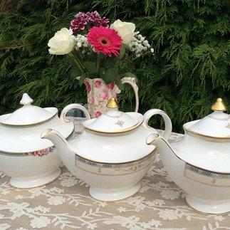 A Trio of Vintage Royal Doulton Bone China Tea pots