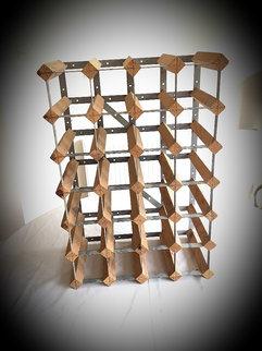 Wooden Wine Rack for 24 Bottles Barware Prop Hire