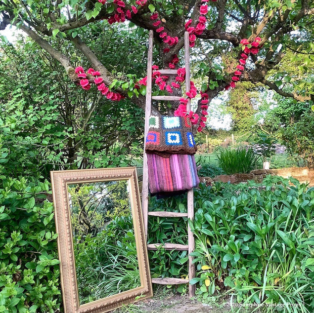Boho Festival Style Throws and Rustic Ladders to Hire