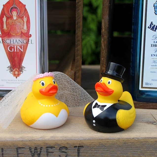 Bride and Groom Ducks for Hook a Duck Game Weddings and Events