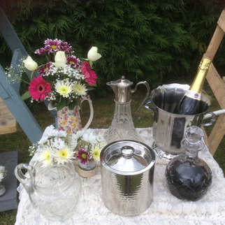 Barware including Champagne Ice Buckets Decanters and Vintage Glass Water Jugs