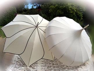 Ivory Wedding Pagoda Umbrellas