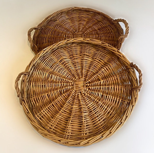Two Round Flat Bread Baskets Serveware Hire