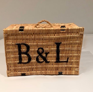Bakers and Larners of Holt Wicker Hamper Basket Prop Hire