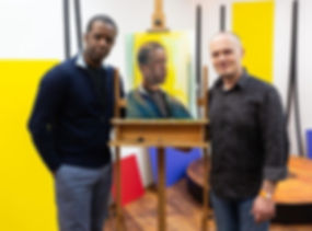 Emil with Hollywood star Adrian Lester a