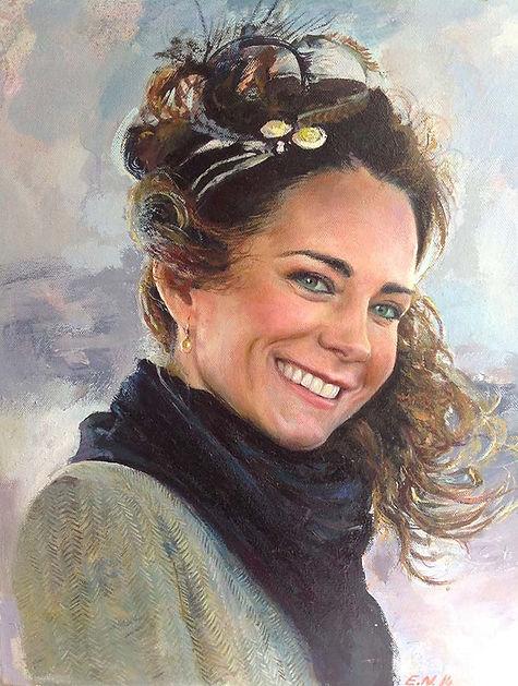 Portrait of Kate Middleton _ Emil Nikoll