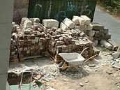 Außenbereich - Wiederverwendung des historischen Ziegelpflasters