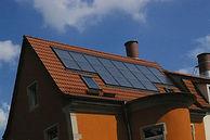 20 m² Solarkollektoren auf dem Dach