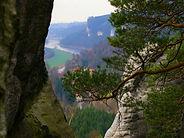 Blick auf die Elbe, Sächsische Schweiz