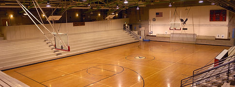 Old school basketball court gymnasium