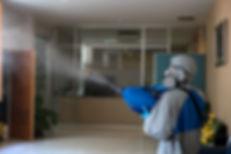 Coronavirus Pandemic. Disinfecting of of