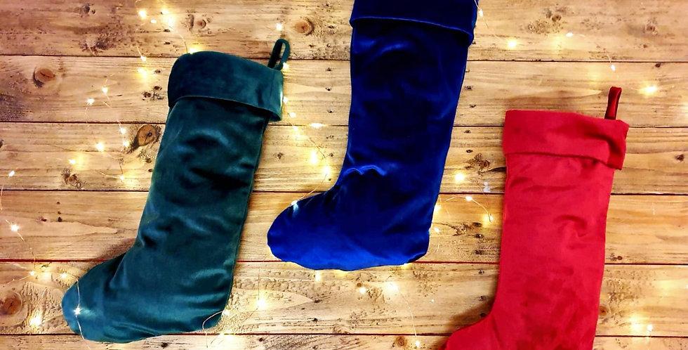 Children's Filled Luxury Velvet Stocking