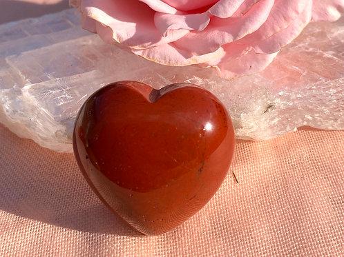 Rode Jaspis hart (±4/5cm)