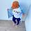 Thumbnail: BOi iSH Casual Graffiti T-Shirt - White