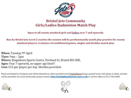 Easter Ladies' & Girls' Badminton