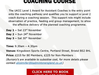 UKCC Level 1 Coaching Course