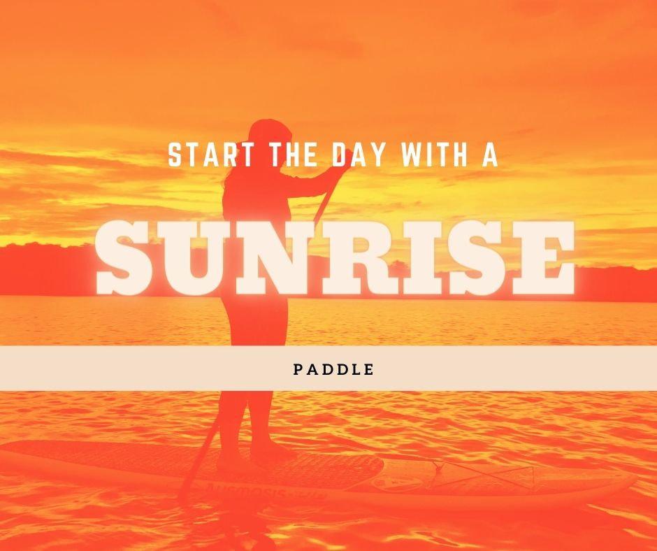 Sunrise SUP Paddle (BYO board)