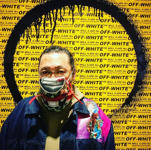 Off-White AJ1 LV Murakami  Mask