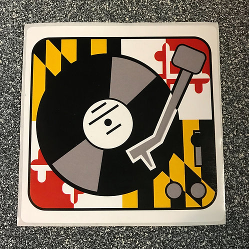 "MD Pride Turntable 4"" x 4"" Sticker"