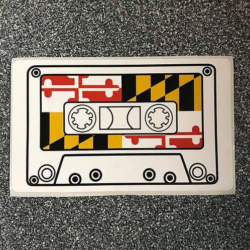 "MD Pride Cassette 3"" x 5"" Sticker"