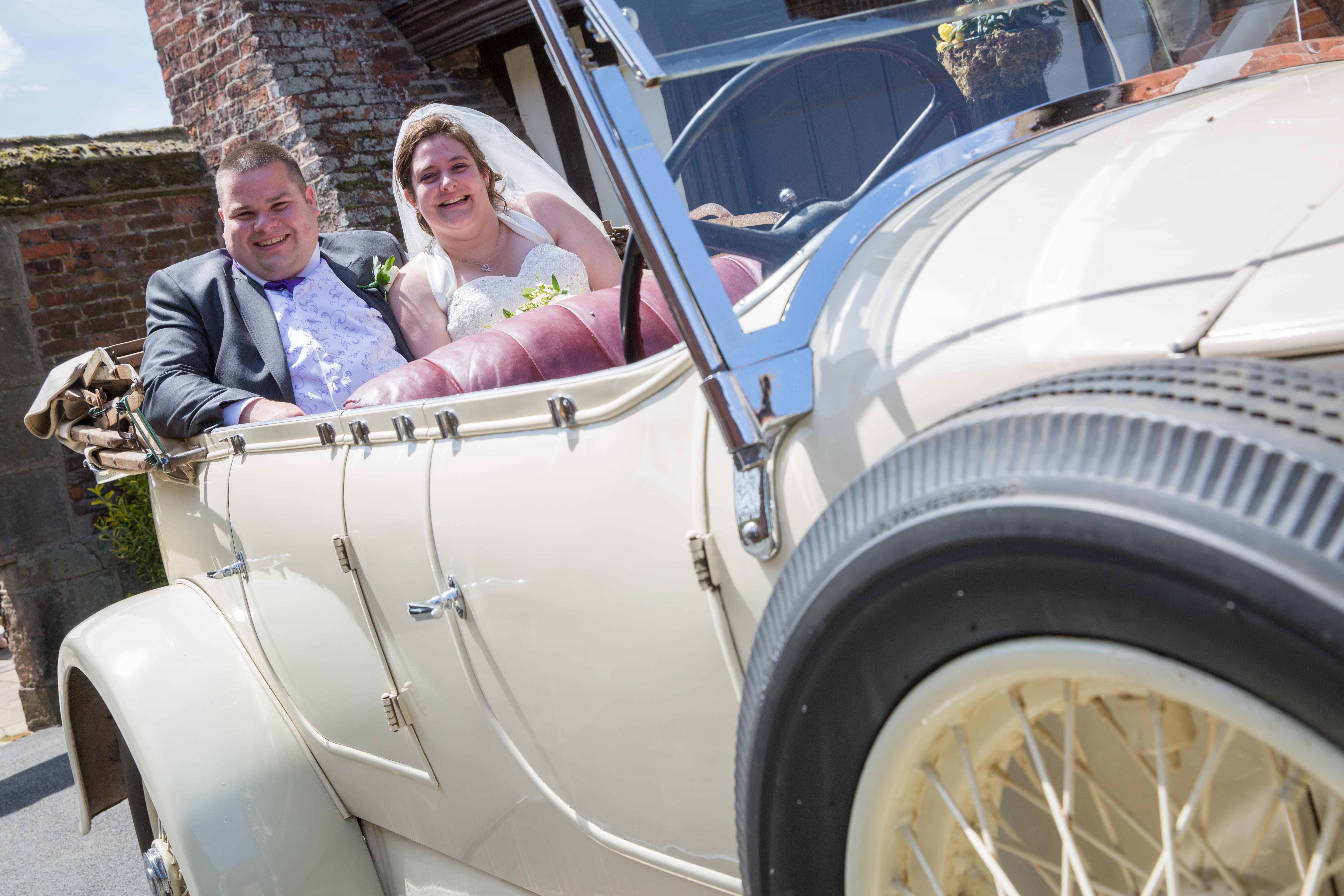 Bride & Groom Wedding Car