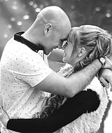 Romantic Couple in love looking into each others eyes in black and white images