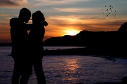 Sunset Silhouette Couple