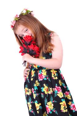 Girl & Flowers