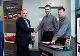 Sports Car Hire Team Shaking Hands