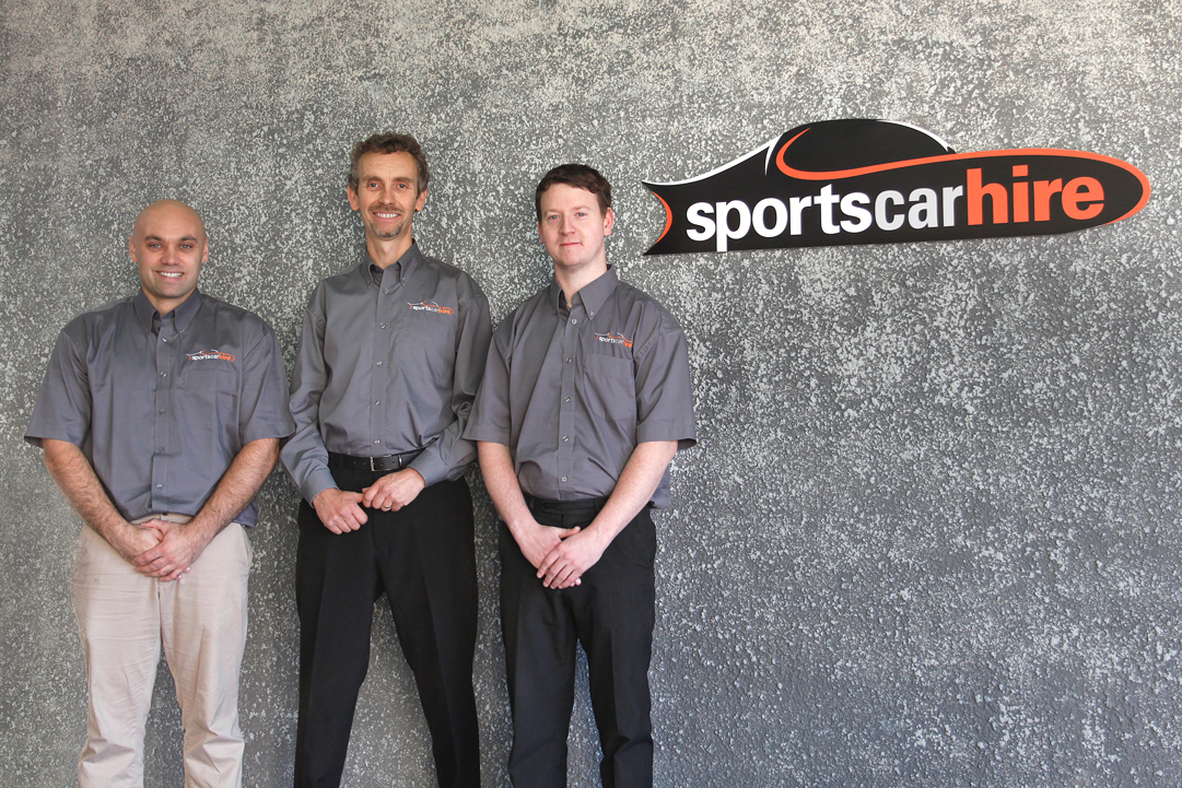 Sports Car Hire Team Shot