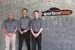 Sports Car Hire Team Shot
