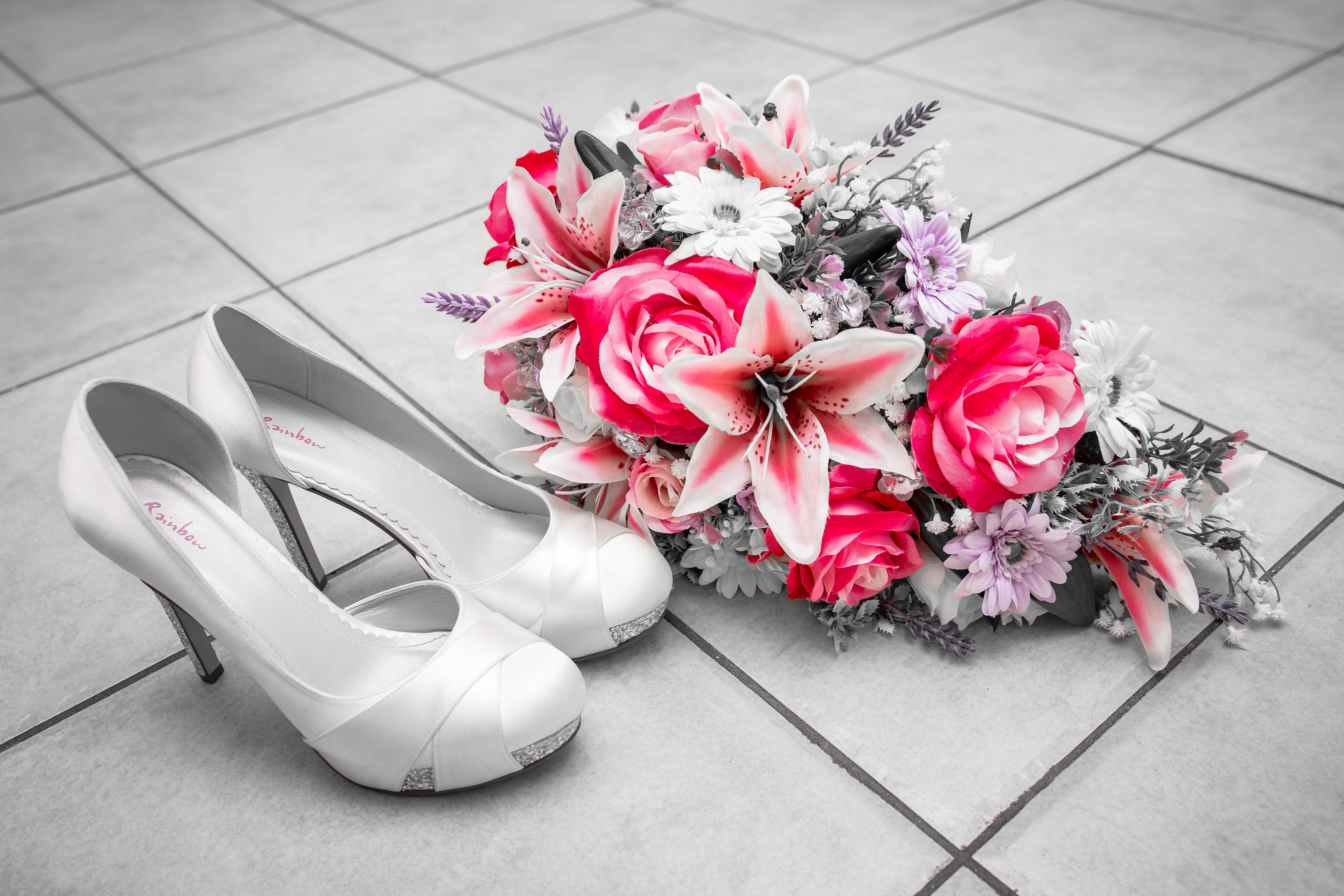 Colour pop bridal flowers