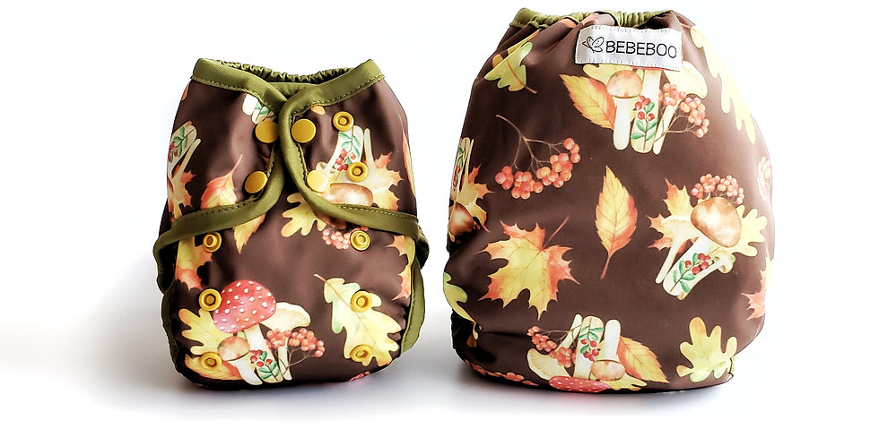 MUSHROOMS, Flex Diaper Cover, OS - WHOLESALE pack of 2